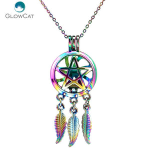 Dream Catcher Pentagram Wicca Necklace