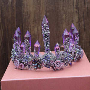 Luxurious Purple Crystal Crown