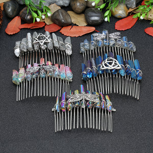 Wicca Crystal Silver Comb Hair Accessories
