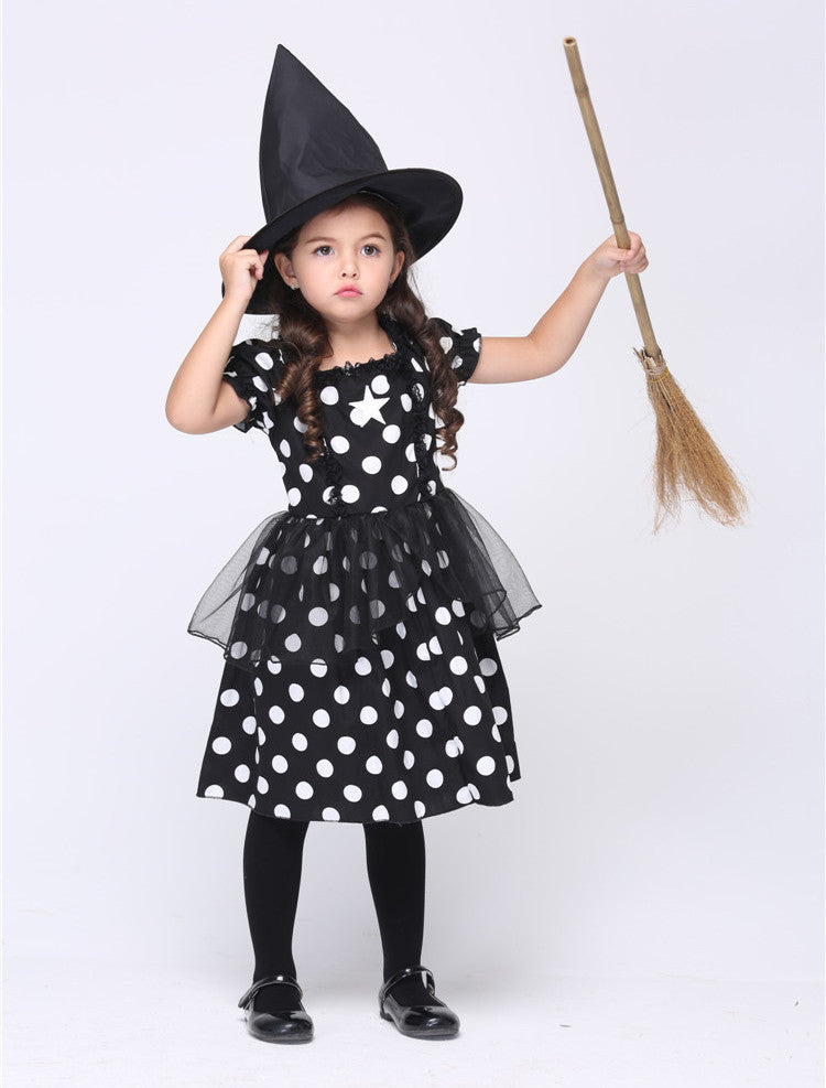 Black Witch Cosplay Costumes Halloween Stage Performance Girl Costumes