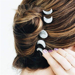 Wicca Moon Phase Hair Clip 5 Pcs/ Set