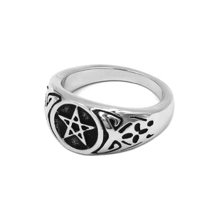 Wicca Pentacle Ring