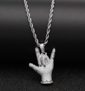 "ASL ""I Love You"" Necklace"