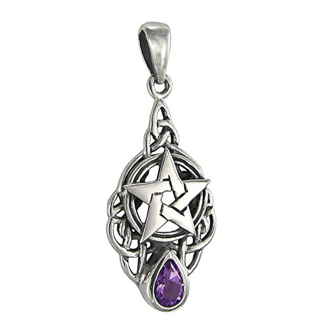Goddess Pentagram Amethyst Necklaces
