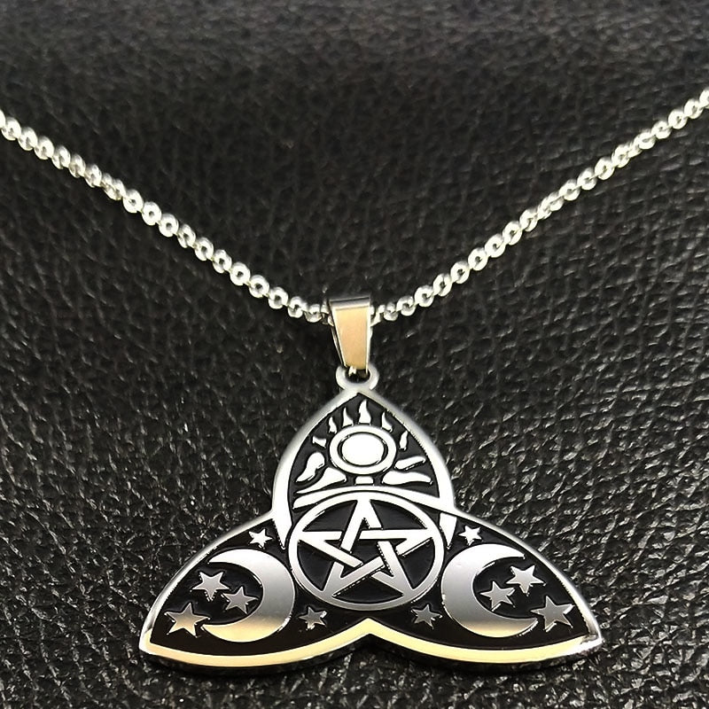 Wicca Sun Star Moon Necklaces
