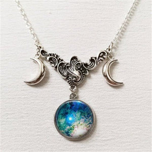 Wicca Triple moon necklace