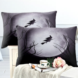 Witch Broomstick Bedding Set