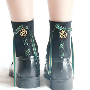 Pentagram Cross Pattern Socks