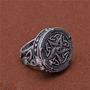 Alchemy gothic Vintage Jewelry Supernatural Dean Sam Pentacle Tattoo Box Ring