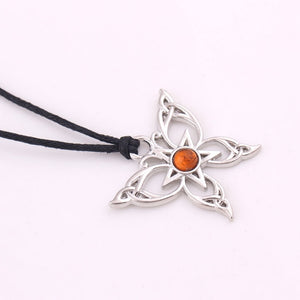 Wicca Butterfly Pentagram Necklace