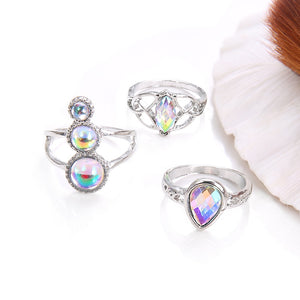 Wicca Opal Rings 3pcs