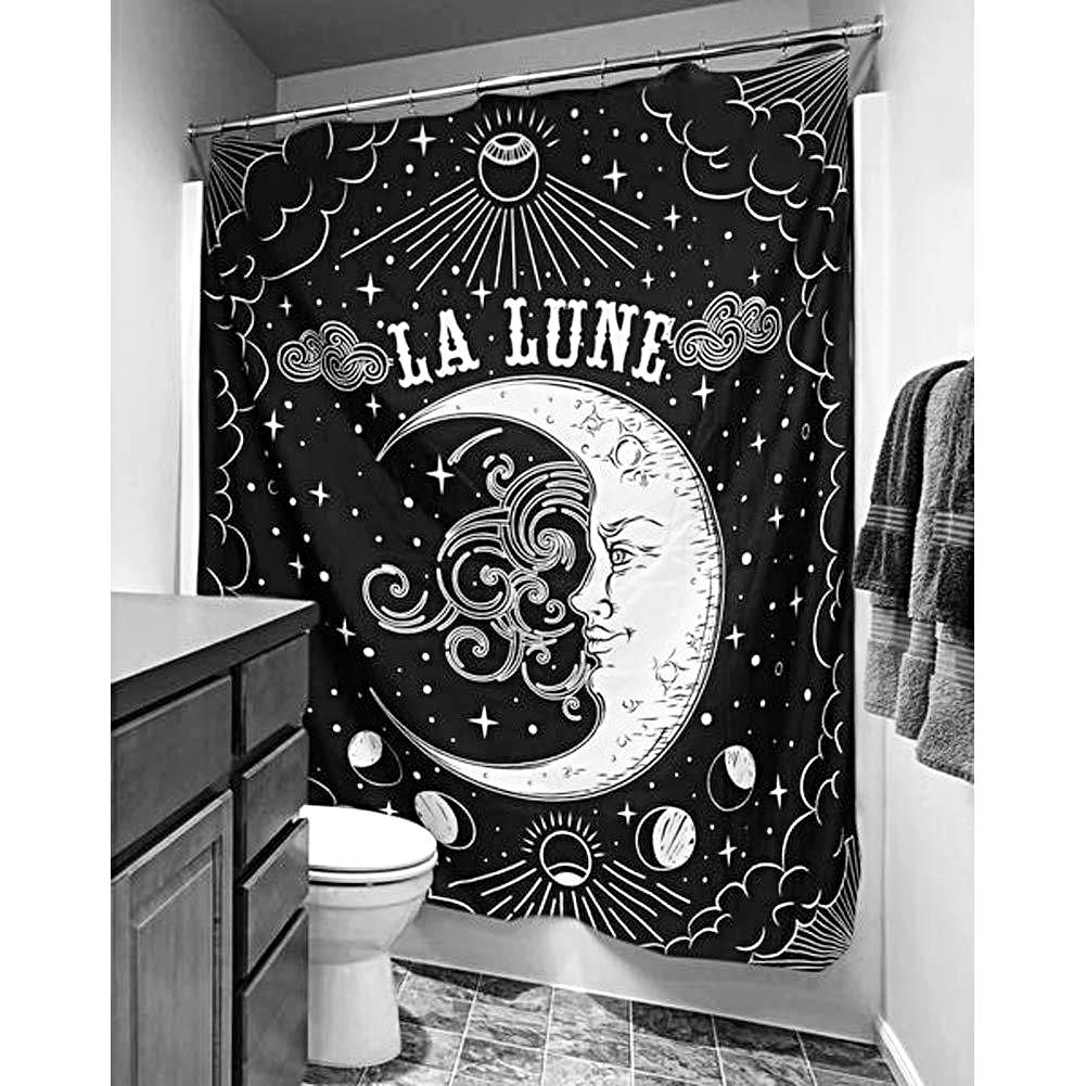 La Lune Witchy Moon Shower Curtain