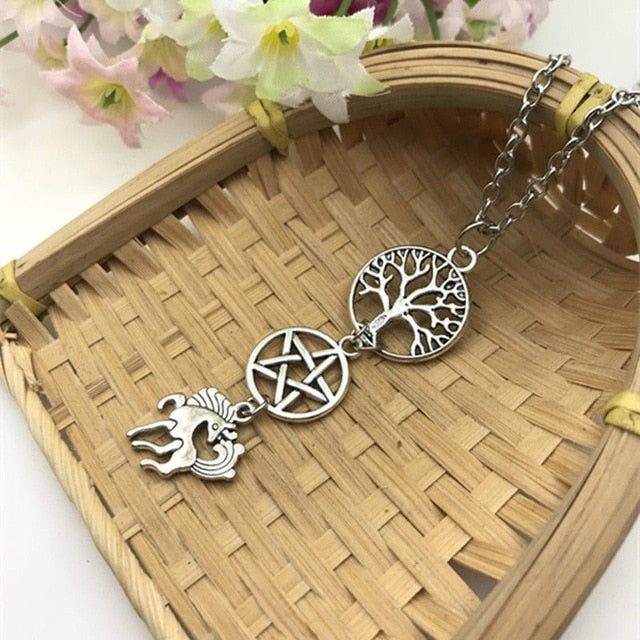 Wicca Pentagram Tree of Life Necklace