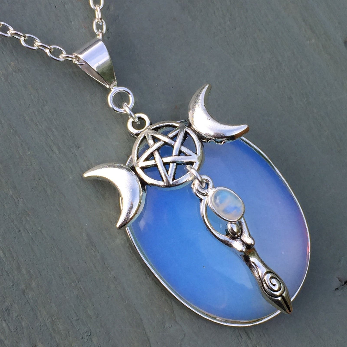 Triple Goddess Wicca Necklace