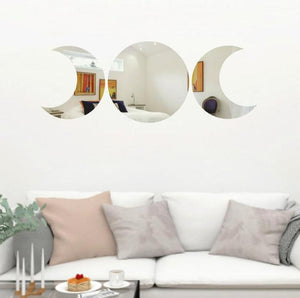 Triple moon Mirror Wall
