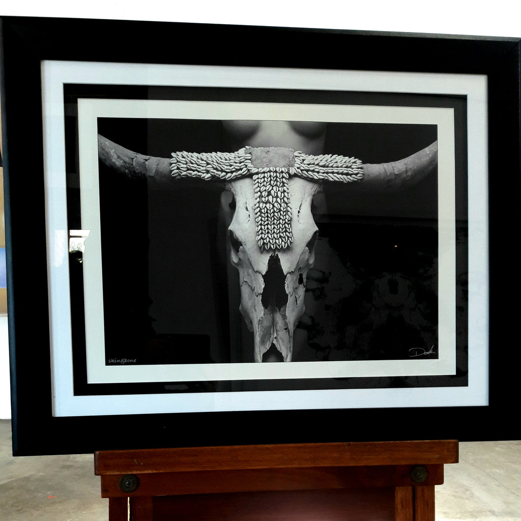 Cow Skull with Cowrie Loincloth Photograph by Dook