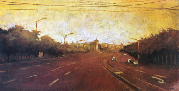 Landscape (Yellow Sky) by Grace Kotze