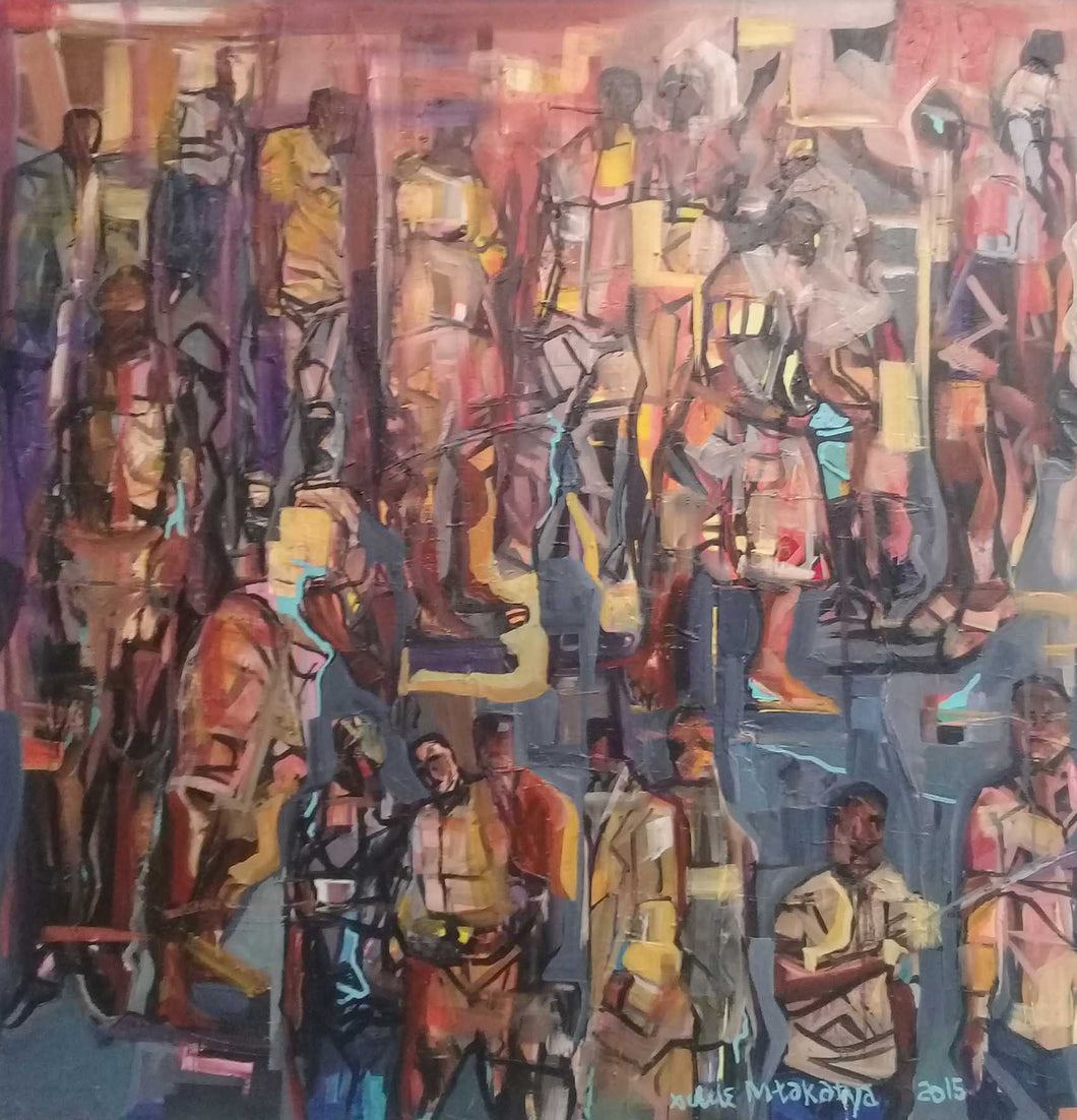 Abstract Crowd by Xolile Mtakatya