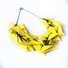 Yellow Triangles Necklace Light Weight