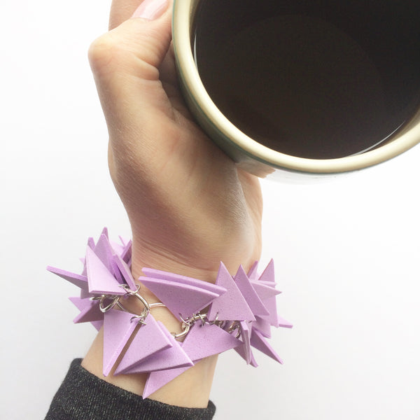 Triangles Bracelet Lilac