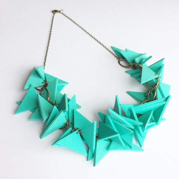 Turquoise Triangle Necklace Light Weight