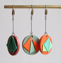 Painted Wood & Rubber Earrings