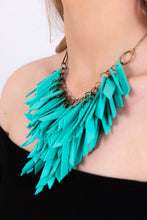 Turquoise V Shaped Statement Light Weight Necklace