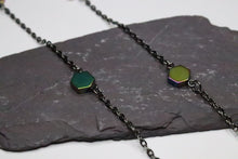 Long Necklace Sheen Multicolored Hematite