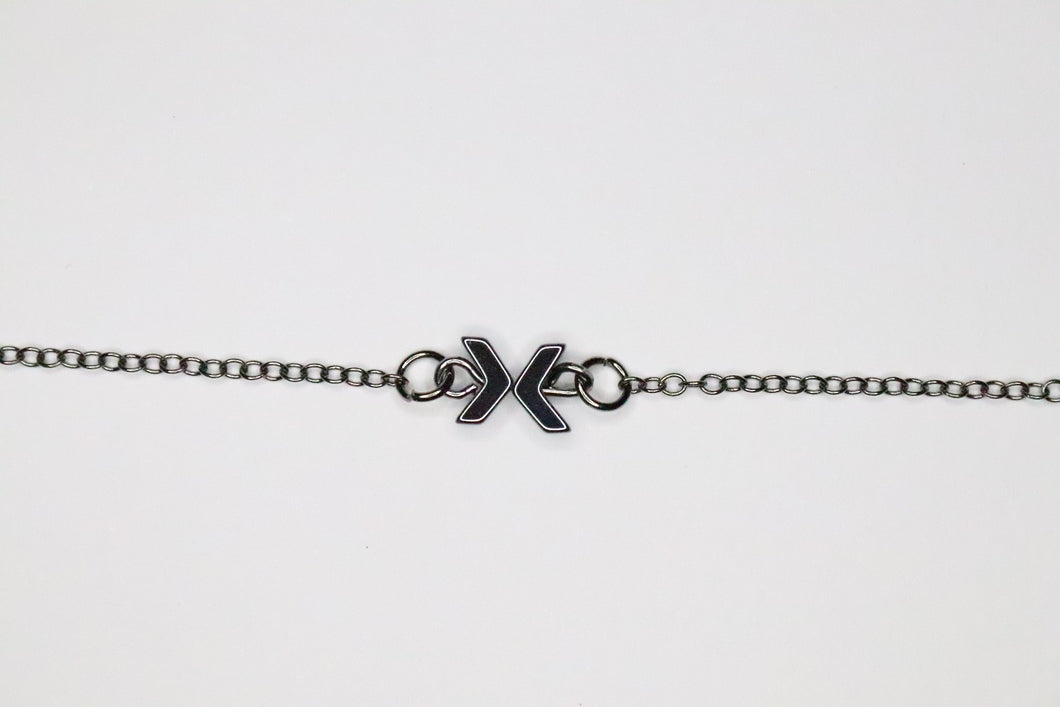 Tiny Bow on Silver Necklace
