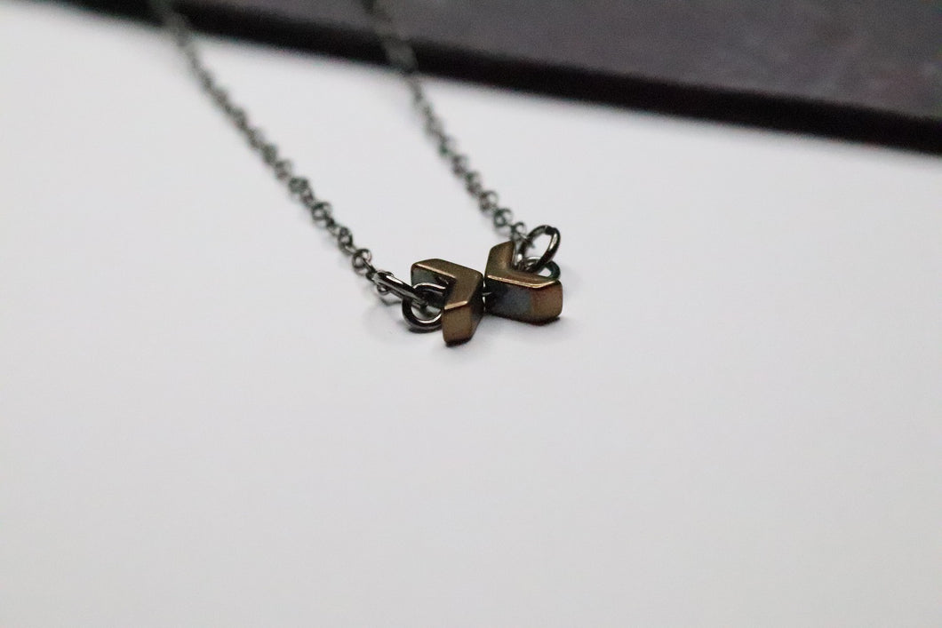 Tiny Bow on Copper Necklace