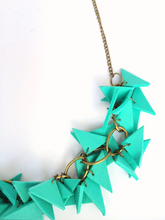 Triangles Necklace Light weight turquoise with earrings