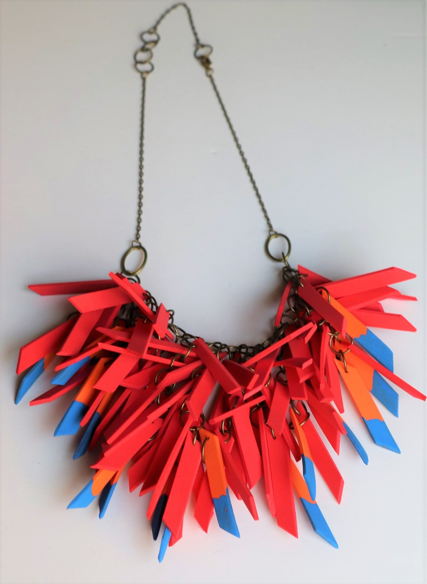 Macaw V Shaped Statement Light Weight Necklace