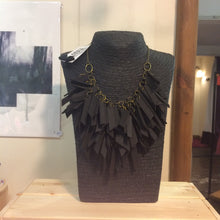Black V Shaped Statement Light Weight Necklace