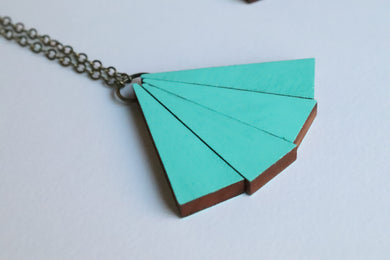 Retro and Mint Necklace