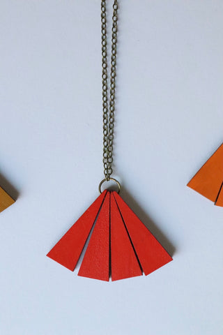 Retro and Dark Orange Necklace