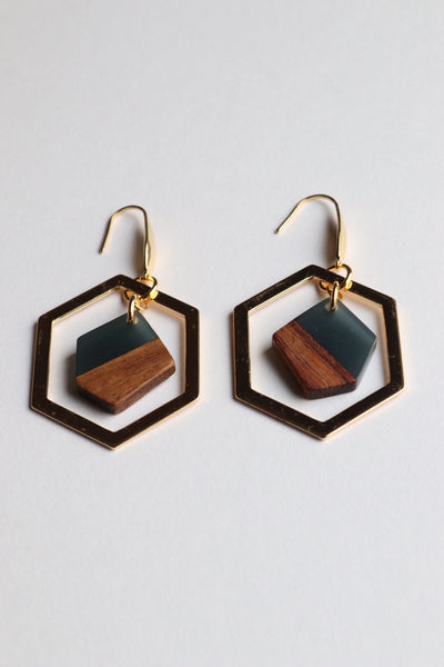 Retro Pieces Dark Earrings