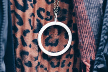 Vintage Painted Circle Necklace