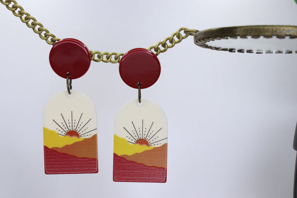RED SUNSET EARRINGS
