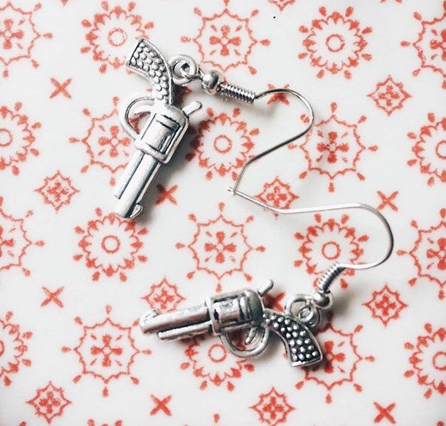 Vintage Gun Earrings