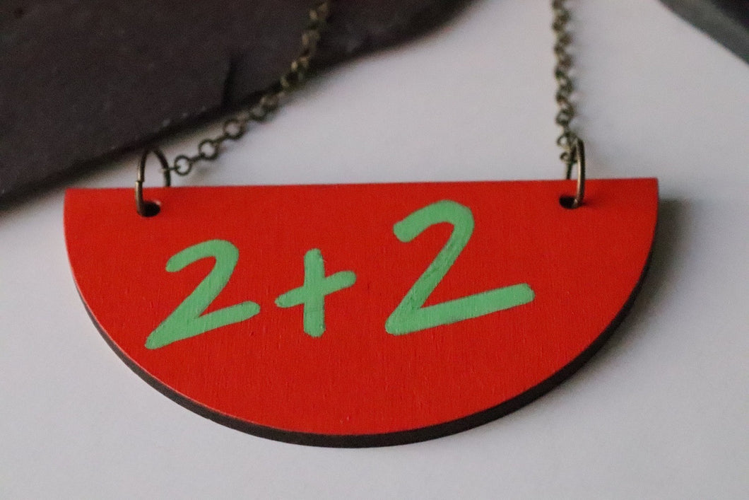 Two plus two Necklace