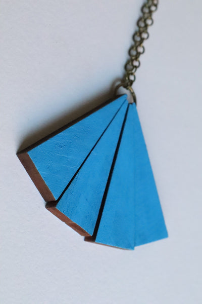 Retro and Blue Necklace