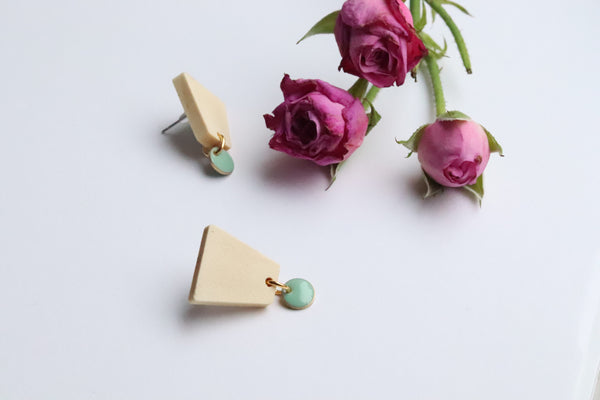 Mint sky earrings