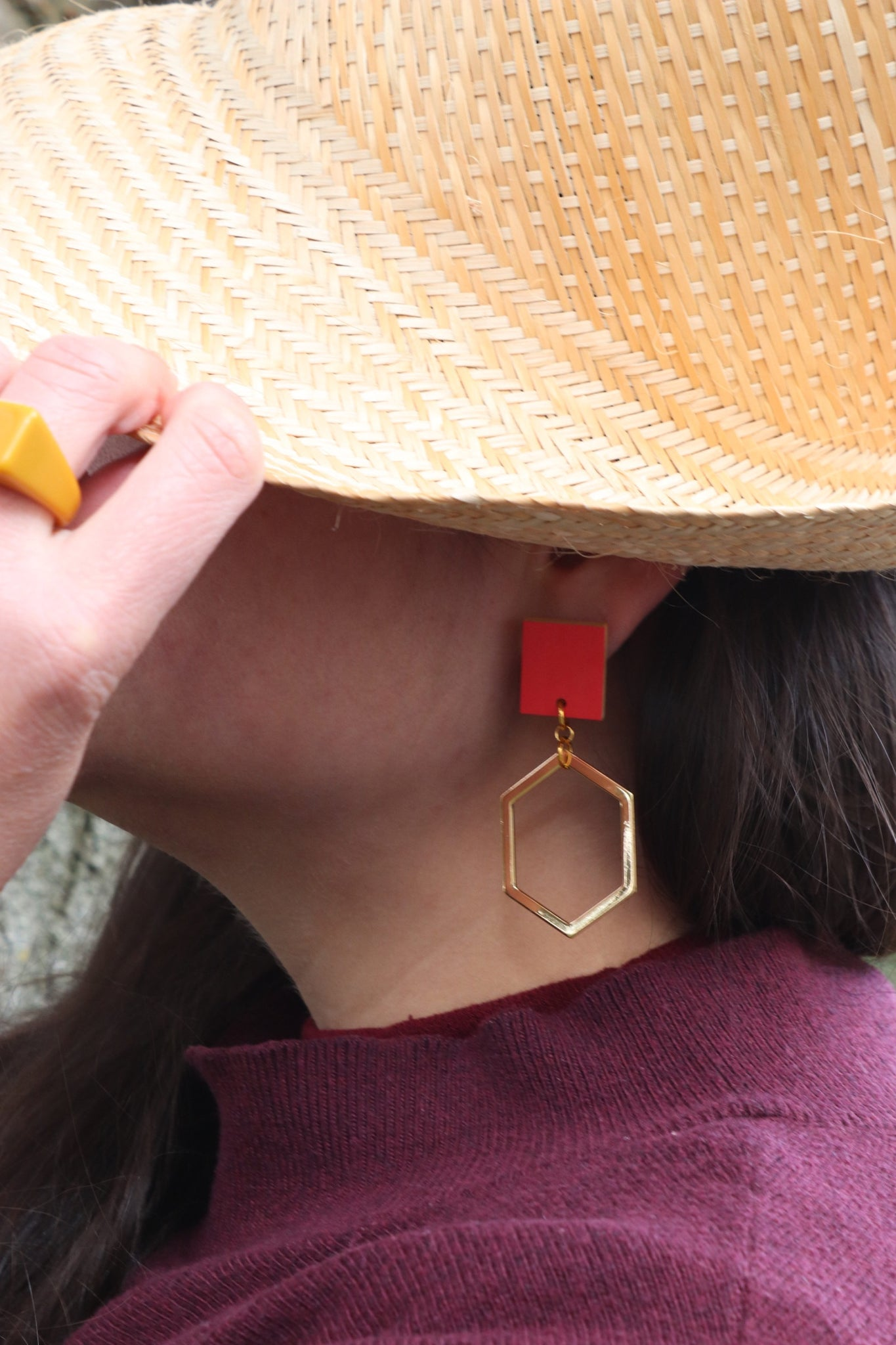 ORANGE PLAY EARRINGS