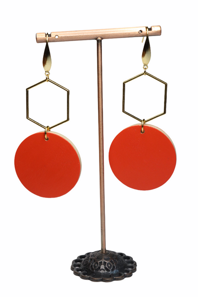 DEEP ORANGE EARRINGS (E210033)