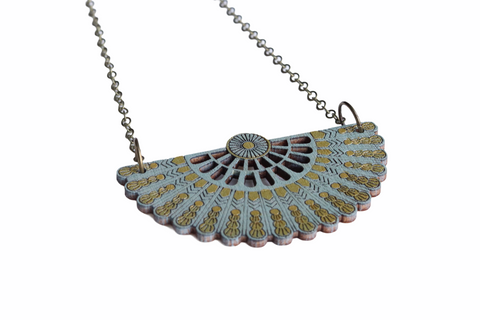 SAGE PRETTY FAN NECKLACE (NL0034)
