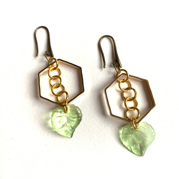 A bit of green Earrings