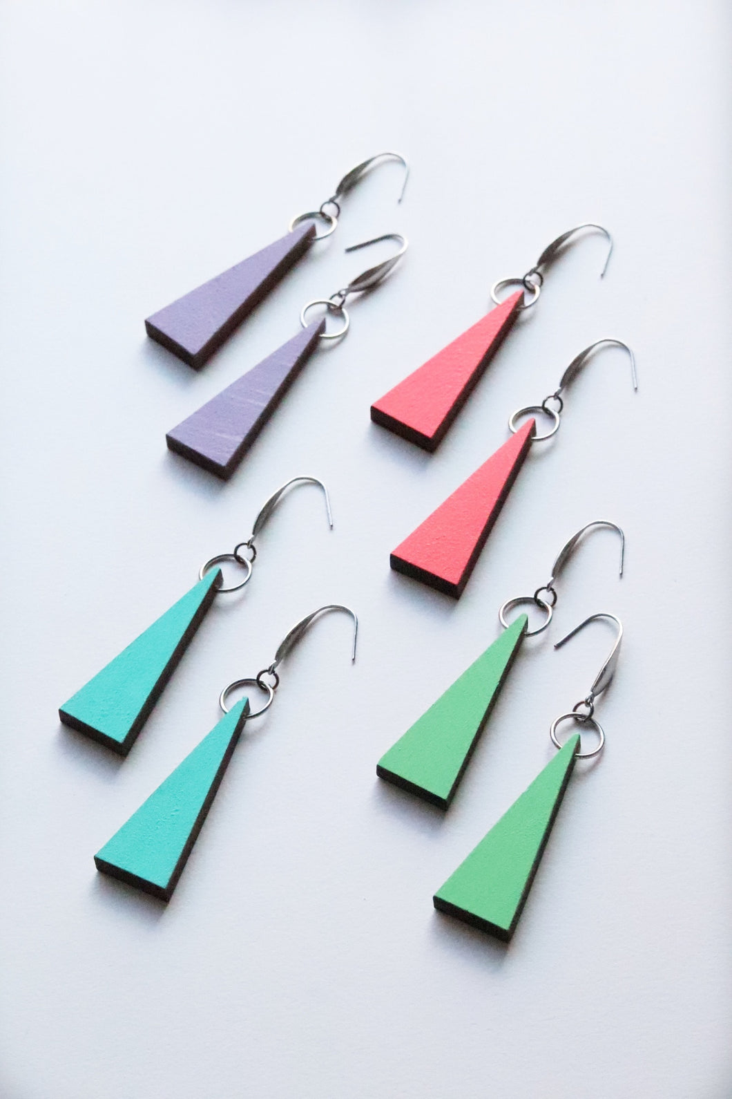 4 Pairs of Triangle earrings