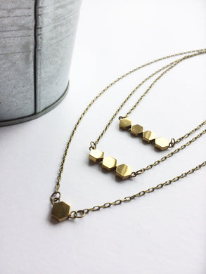 Layered Golden Necklace