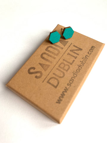 Small Hexagon Wood Studs