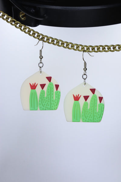 GREEN GARDEN EARRINGS